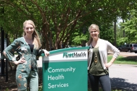 Cassondra Chaput and Kristen Cook, health educators with FirstHealth Community Health Services.