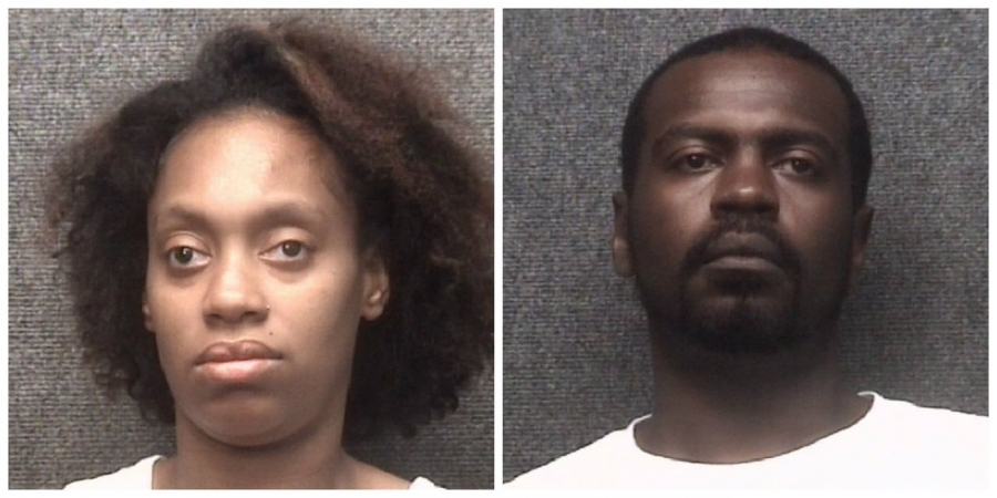 Laquena Lanishia Bostic, left, and Geames Kena Ratliff are charged with cocaine possession and five counts of neglect after a child, who later died, was found unresponsive with suspected cocaine near the bottle.