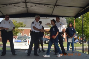 Graduates of the Rockingham Junior Police and Fire Academy will receive their certificates at National Night Out, scheduled for Aug. 6. This photo is from 2016.
