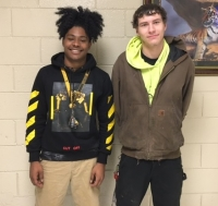 Zion Nelson, left, and Tyler Clark, both seniors, made the A Honor Roll at Ashley Chapel Educational Center for the first nine weeks.