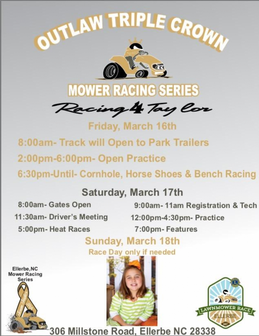 Outlaw Triple Crown Mower Racing Series, 'Racing 4 Taylor.'