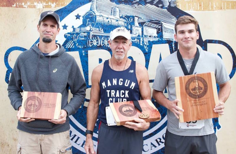 Male winners from last weekend's 5K event.
