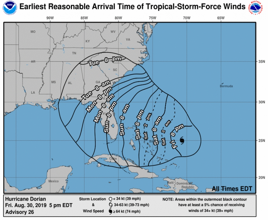 Dorian strengthens; strong winds expected in Richmond County by Tuesday