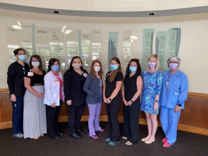 FirstHealth has announced its 2020 Nursing Leadership Academy graduates. From left to right: Alexandra Morrison, Bralen Allen, Tarrah Taylor, Amy Logwood, LeighAnna Deberry, Mandie Scott, Sarah McAuley, Natalie Schrenker, Kelly Goforth. Not pictured: Dana Killilea.