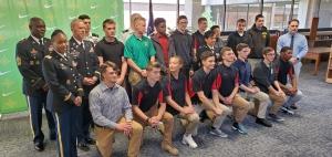 Fifteen Richmond Senior High School students were recognized during a military signing ceremony on Wednesday. Six will join the Marine Corps, four are going into the Army, one is enlisting in the Air Force, three are attending The Citadel and one is going to Norwich University.