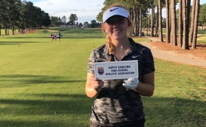 Hailey Miller finished 74th in the 2017 N.C. state golf playoffs.
