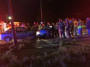 Vehicles Collide on Mill Road
