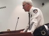 Rockingham Police Chief Billy Kelly gives an overview of the department's annual report Tuesday to the City Council.