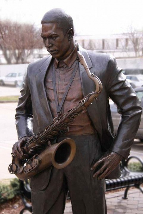 Bronze Statue of John Coltrane
