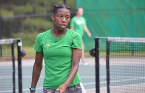 Richmond Observer File Photo: RSHS junior Jayana Nicholson advanced to the second round of the state tennis playoffs.