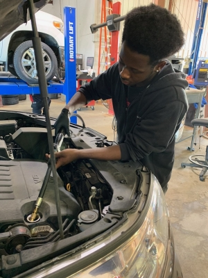 William Evans-Legette is interning at Griffin Toyota and plans to continue working on cars.