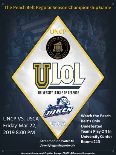 UNCP's Esports team competes for PBC title