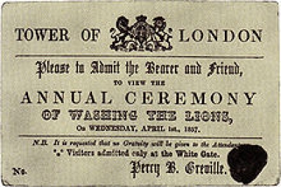 April Fools' Day in London 1857