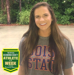 Mackenzie Webb, senior volleyball player, is this week's Official Richmond County Female Athlete of the Week.