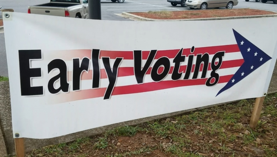 More than 500 voters got a jump start on the mid-term election Wednesday for the first day of early voting.