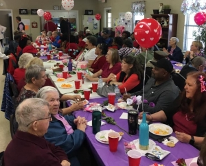 The recent Valentine's Social is one of many activities for seniors sponsored by Richmond County Aging Services, which is holding a fundraiser this week.