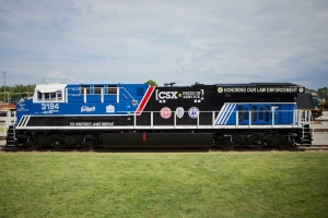 The CSX law enforcement train is one of three heritage trains that will be on display Oct. 26 for the Seaboard Festival.