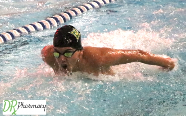 Senior Dakota Locklear had a top-three finish in the 100-yard freestyle during Wednesday's meet.