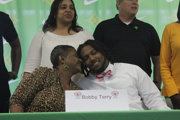 Bobby Terry signed his NLI to play football at Winston-Salem State University as a preferred walk-on.