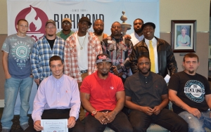 Pictured are the 12 students who graduated Oct. 31 from the truck driver training program at Richmond Community College.