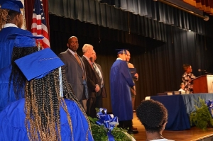 Graduates of Ashley Chapel Educational Center walk across the stage at Rockingham Middle School on Thursday.