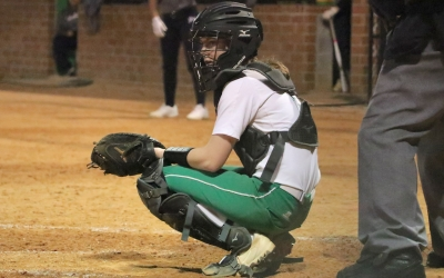 Sophomore catcher Taylor Waitley recorded two RBI in Tuesday's loss to Purnell Swett.