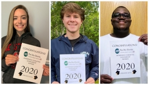 Jayden Johnson, Noah Jordan and Treshawn Robinson, all of Richmond County, were among the eight regional students awarded scholarships by the Pee Dee Electric Awareness Committee.