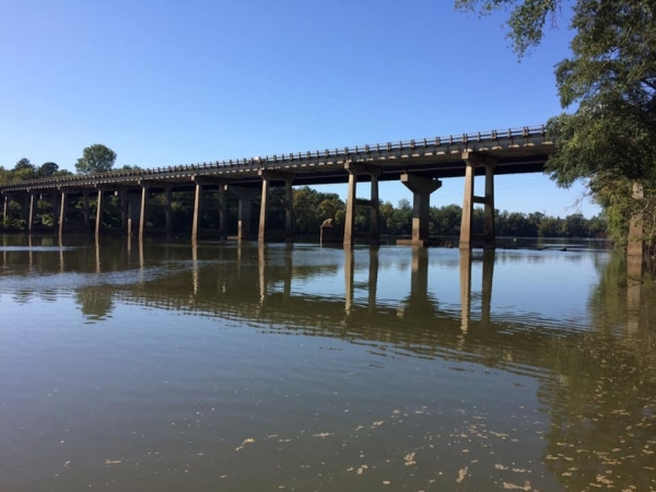 While a four-lane bridge crosses the Pee Dee River now, those in times past had to ford the river or use a ferry.