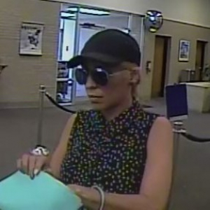 Circe Baez is accused of robbing four banks in three states within seven days.