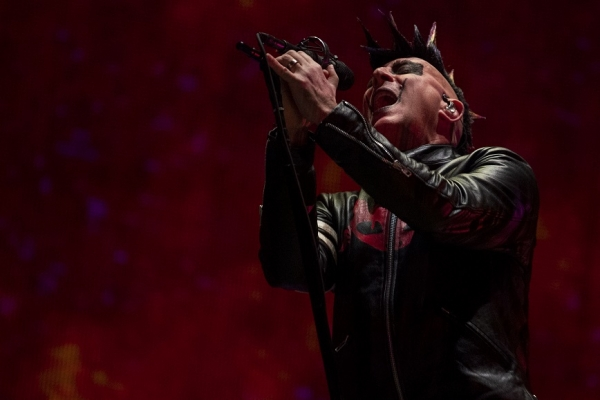 Tool frontman Maynard James Keenan sings during the band's performance Sunday at the PNC Arena in Raleigh. See more photos on the RO's Facebook page.