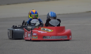 "Go-karts race around Rockingham Speedway's ""Little Rock"" on Saturday. See a photo gallery at the bottom of this story."