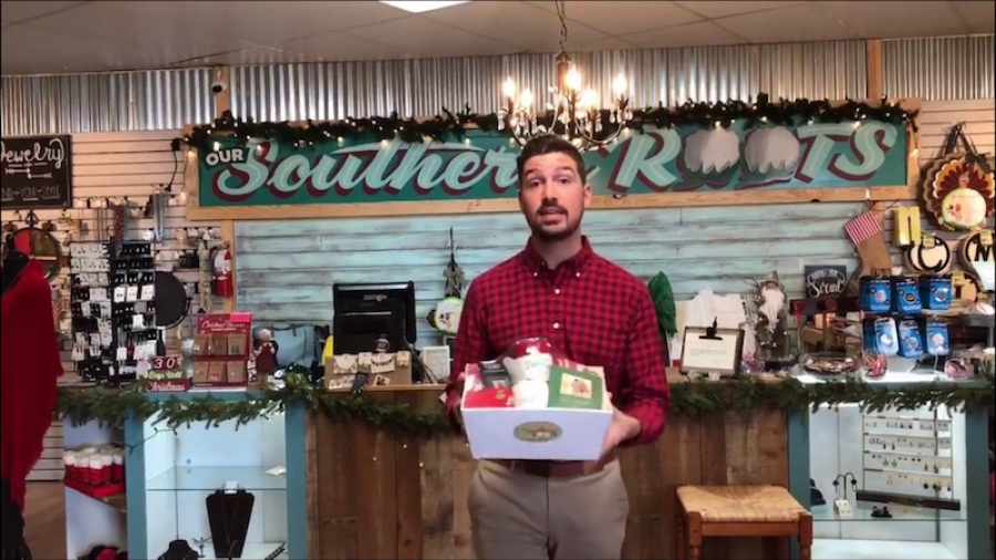"Seth Allen, Richmond County Chamber of Commerce membership director, participates in ""12 Days of Chamber""."