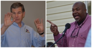 There is a sharp contrast between Gov. Roy Cooper and Lt. Gov. Mark Robinson.