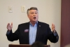 Mark Harris, candidate for US 9th Congressional District, addresses The Richmond County Republican Convention