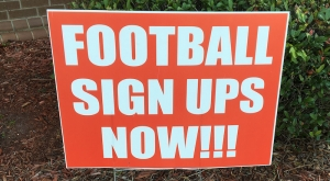 Hamlet Parks and Recs football and cheerleading signups are still ongoing; but will wrap up at the end of the week.