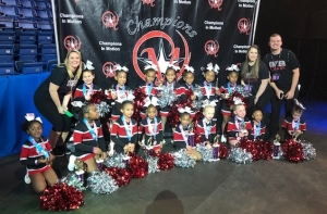 The cheerleaders from Richmond County Elite Cheer brought home six first-place wins at a competition in Fayetteville this past weekend, qualifying them for the national competition in Florida this summer.