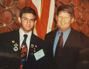 William R. Toler and then-Sen. Marc Basnight, 1999.
