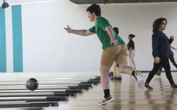 Senior Mitchell Massey had a team-high 15 strikes in his 24 frames during Thursday's SAC bowling matches.