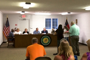 Ellerbe Town Council Meeting on Tuesday, September 5, 2017.