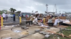No injuries have been reported after a tornado/waterspout swept through Emerald Isle on Thursday.