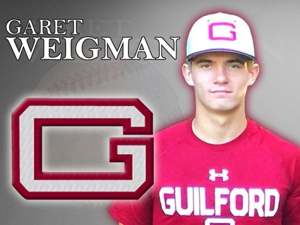 Richmond's Garet Weigman verbally committed Tuesday to play baseball at Guilford College.
