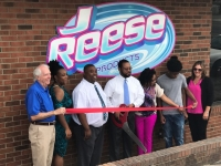 J-Reese Products held its ribbon cutting ceremony Thursday afternoon at its new location in downtown Rockingham.