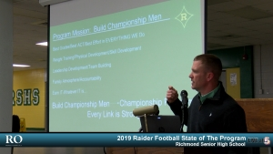 (VIDEO) 2019 Raider Football State of The Program