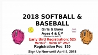 Ellerbe Baseball/Softball Registration