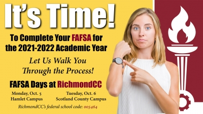 RichmondCC: FAFSA first step in getting money for college