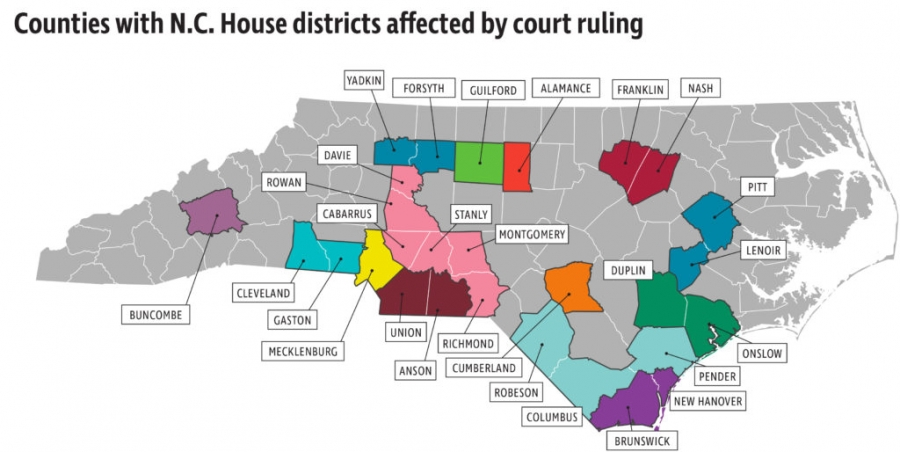 Richmond County is among those in a House district affected by a court ruling.