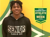 Senior basketball player Xavier Pettigrew has been named the Official Richmond County Male Athlete of the Week.