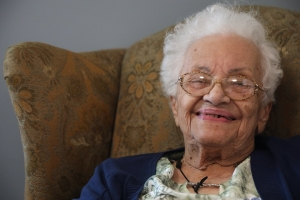 UNC Pembroke's oldest alumna, Beulah Ransom Kemerer, is 100 years old and a former teacher.