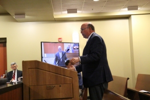Dr. Dale McInnis Updates Commissioners on Richmond Community College