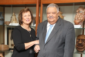 The foyer of the future UNCP School of Business will be named for Loleta and Larry Chavis following a generous gift to the college.